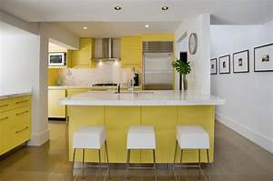 du blanc et de la couleur cocon de decoration le blog With kitchen colors with white cabinets with sunset metal wall art