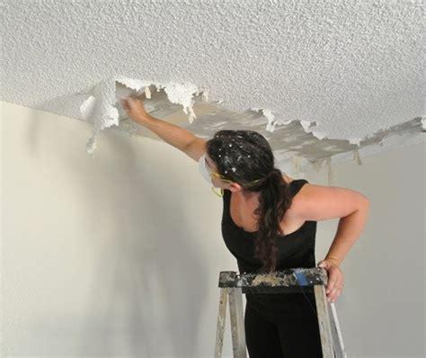 joy  popcorn ceiling removal centsational style