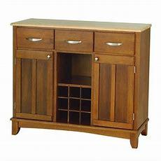 Home Styles Large Cottage Oak Buffet Kitchen Island Wood
