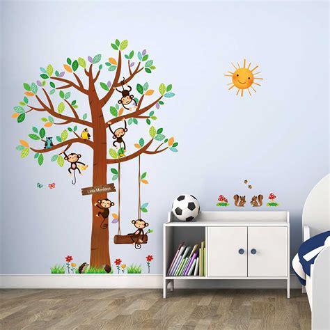 Ikea Wandsticker Kinderzimmer by Wandsticker 5 Kleine Affen Auf Dem Baum Wandsticker