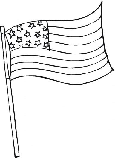 united states  america flag coloring page printable