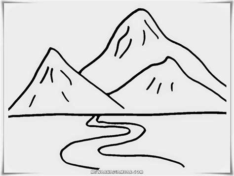 gambar mewarnai gunung gambar mewarnai lucu