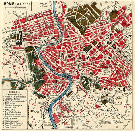 instant art printable  map  rome