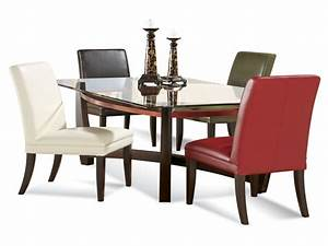 Glass dining room tables rectangular full size of dining for Rectangle glass dining room tables
