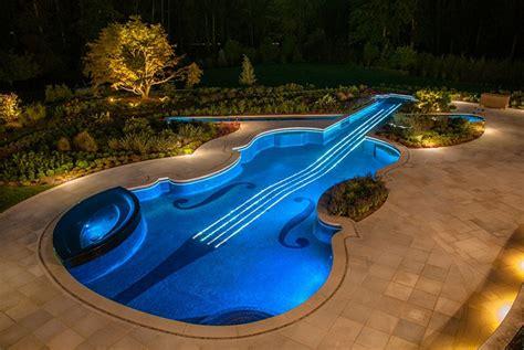 Inground Pool Lights by Nighttime Paradise Inground Pool Lights