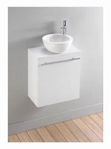 meuble lave mains moderne blanc avec bol en ceramique With salle de bain design avec meuble lave main