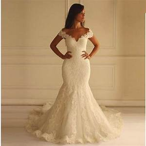hot sale long lace mermaid wedding dresses sexy v neck With lace mermaid wedding gown