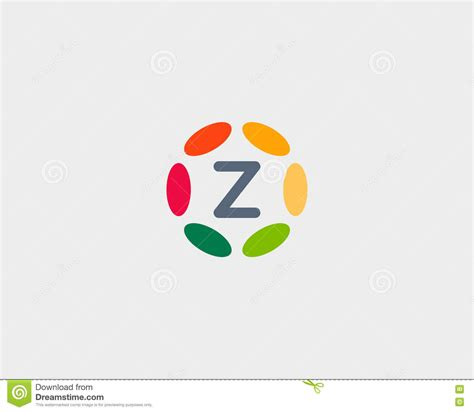 color con z color letter z logo icon vector design hub frame logotype