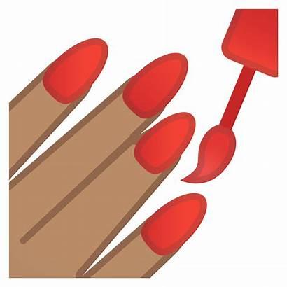 Clipart Icon Manicure Nail Polish Emoji Skin