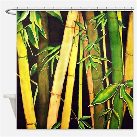 bamboo print shower curtains bamboo print fabric shower