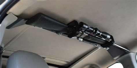 gun racks for trucks center lok overhead single gun rack cl1600 ogr great