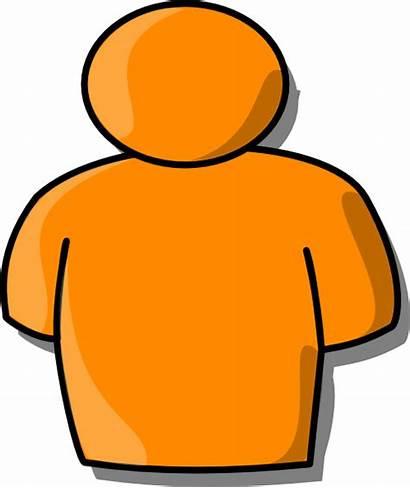 Person Clip Orange Clipart Clker