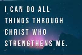 Can Do All Things Through Christ Who Strengthens Me Prayer I