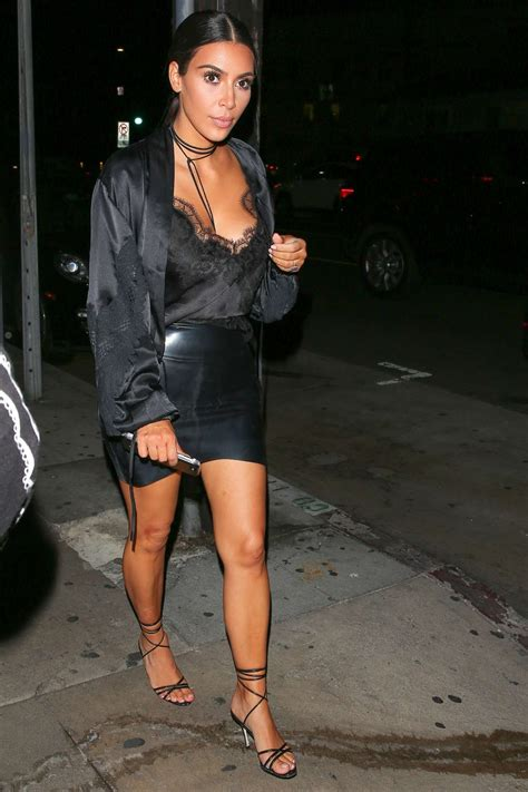 Kim Kardashian in Mini Skirt Leaving Giorgio Baldi in ...