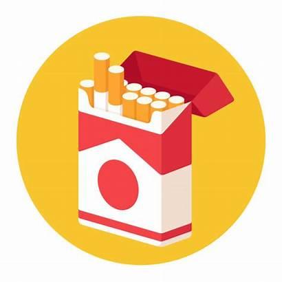 Cigarette Tobacco Vector Clip Pack Illustrations Cartoon