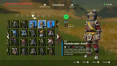 legend  zelda breath   wild  armor sets