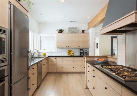 cuisine bois clair moderne meuble moderne pour cuisine bois d 39 ambiance authentique