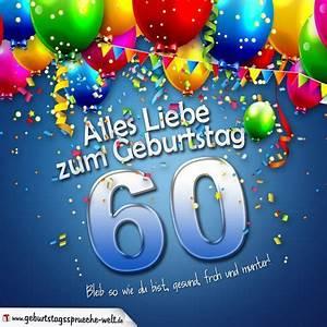 Geburtstagsbilder Zum 60 : geburtstagskarte mit bunten ballons konfetti und luftschlangen zum 60 geburtstag ~ Buech-reservation.com Haus und Dekorationen