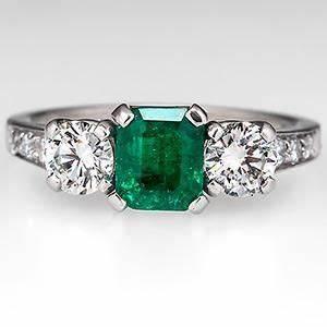Tiffany Ring Verlobung : vintage emerald tiffany co engagement ring w diamond accents platinum eragem with images ~ A.2002-acura-tl-radio.info Haus und Dekorationen
