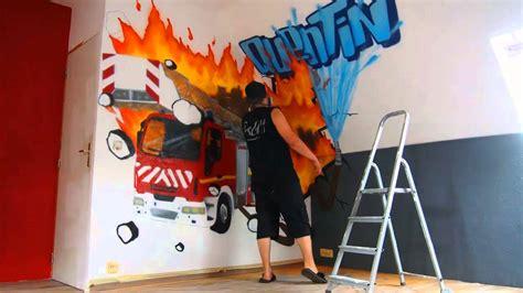 deco de chambre ado graff deco chambre garcon pompier