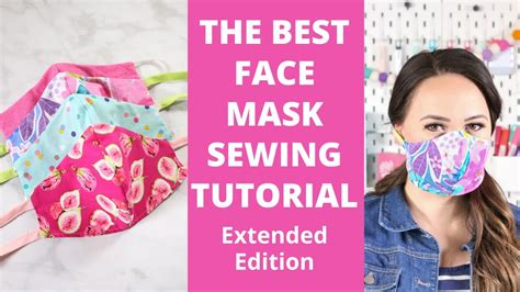 sew  fitted fabric face mask  beginners