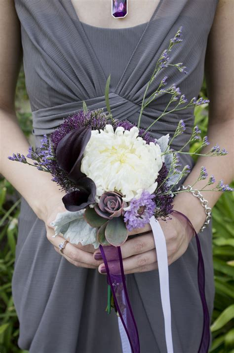 lovely purple  gray diy wedding peterson photography
