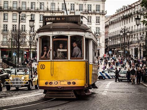 tram   lisbon backpack