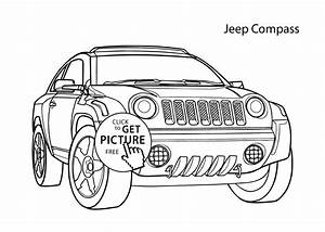 Super Car Jeep Compass Coloring Page Cool Car Printable Free
