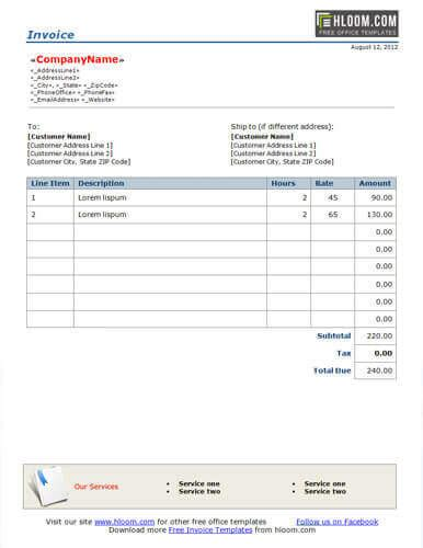 freelance invoice templates word excel