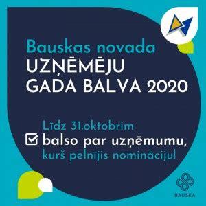 Aptauja Bauskas novada uzņēmēju Gada balva 2020 - VisiDati.lv