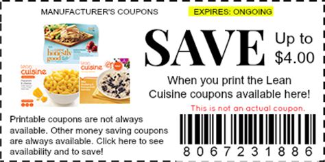 lean cuisine coupons lean cuisine coupons manufacturer coupons