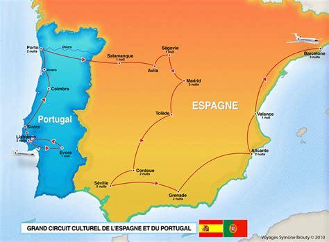 Carte Portugal Espagne by Carte Portugal Et Espagne Mes Prochains Voyages