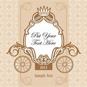 wedding invitation with carriage design vector free vector With wedding cards vector images free download