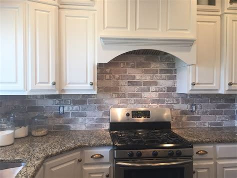 how to do a backsplash in kitchen brick backsplash in the kitchen easy diy install