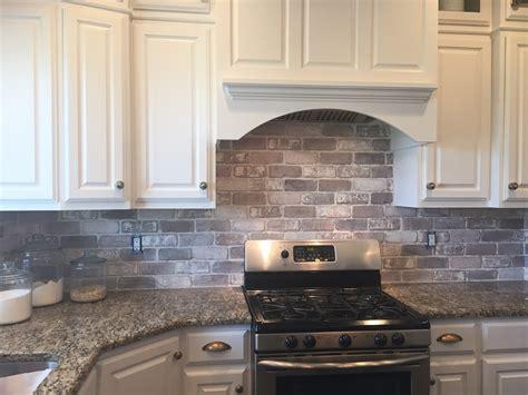 Love Brick Backsplash In The Kitchen Easy Diy Install