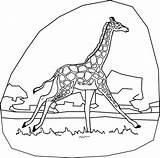 Giraffe Coloring Pages Line Drawing Fun Animal Printable Paint Getdrawings Word Stuff sketch template