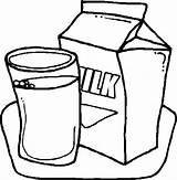 Milk Coloring Carton Colouring Netart Printable Glass Drawing Delicious sketch template