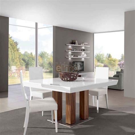 buffet de cuisine fly table salle à manger moderne carrée extensible laque et chêne