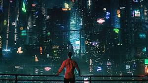 wallpaper futuristic cyberpunk future world 4k 20450