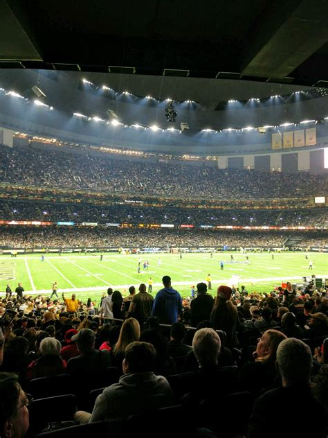 It primarily serves as the home venue for the new orleans saints of the national football league (nfl). Mercedes-Benz Superdome section 119 row 28 seat 5 - New Orleans Saints vs Atlanta Falcons shared ...