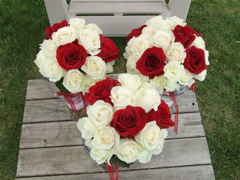 Bridal Bouquet Red Roses White Lily