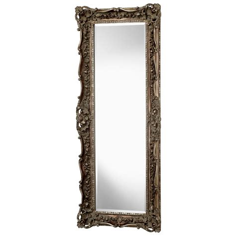 floor mirror ornate french european ornate carved gilt heritage gold leaf floor mirror 70 quot kathy kuo home