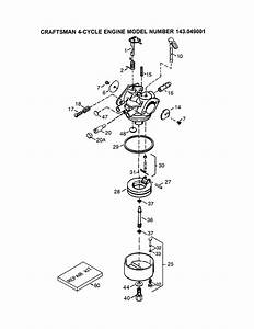 Craftsman 143049001 Lawn  U0026 Garden Engine Parts