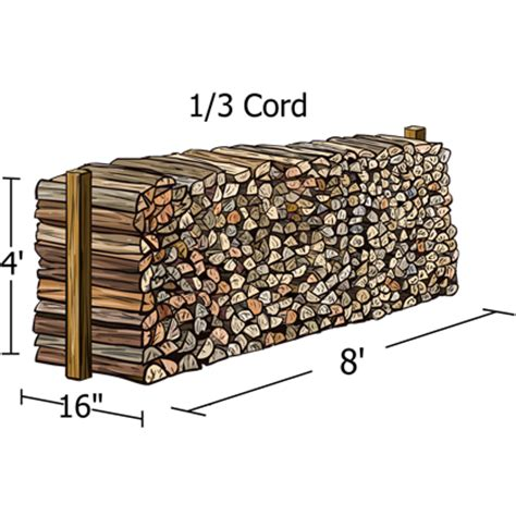 how much wood is in a cord wood rack woodhaven 1 3 cord with cover madden brothers