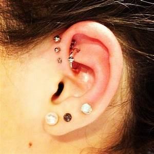 cute ear pierceings | piercings ear jewelry forward helix ...