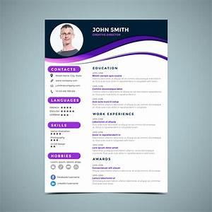 Purple Resume Design Template