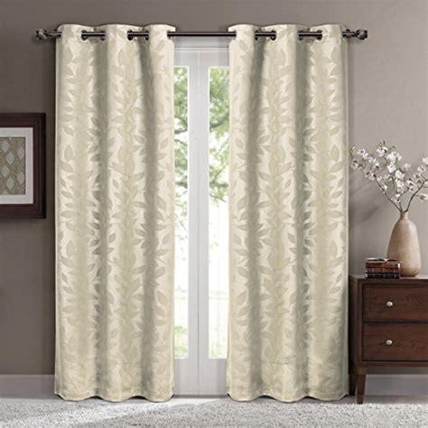 virginia grommet blackout weave embossed curtains 37x108