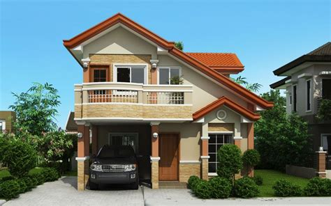 house plans with balcony this house plan is a 3 bedroom 2 storey house which can be built in homes pinterest