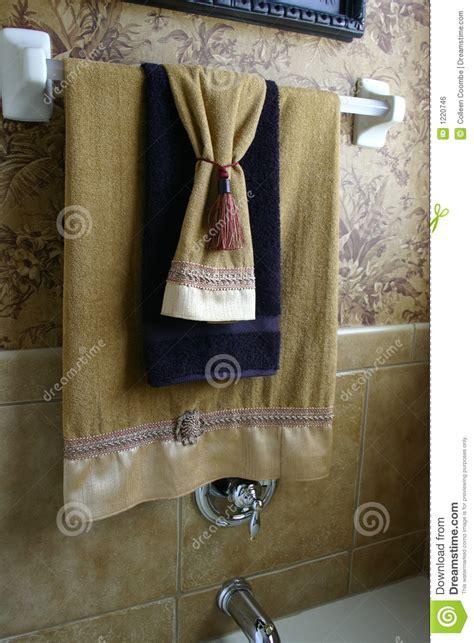 bathroom towel hanging ideas luxury towels royalty free stock image image 1220746