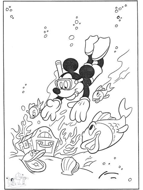 Kleurplaat Eendjes In Het Water by Mickey In Het Water Kleurplaten Disney